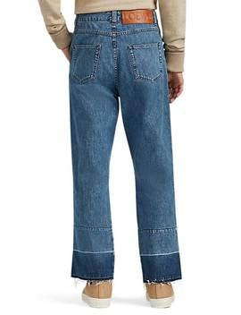 Frayed Hem Fisherman Jeans by Loewe