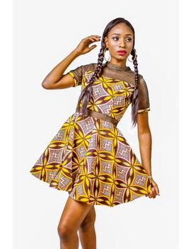 African Print Dress, Ankara Dress, African Clothing, Ankara Flared Dress, Womens Clothing, Net Dress, Fit & Flare Dress by Etsy