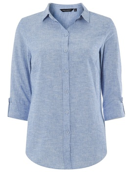 Chambray Linen Shirt by Dorothy Perkins