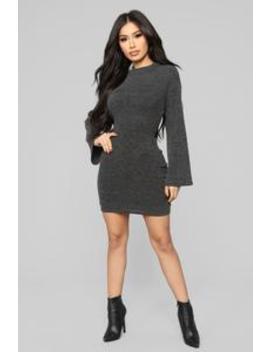Be A Doll Sweater Mini Dress   Black by Fashion Nova