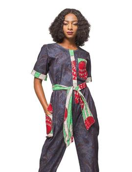 African Print Jumpsuit, Ankara Jumpsuit, African Womens Clothing,  Jeans Jumpsuit, Womens Clothing, Ladies Jumpers, Denim Jumpsuit, Jumpsuit by Etsy