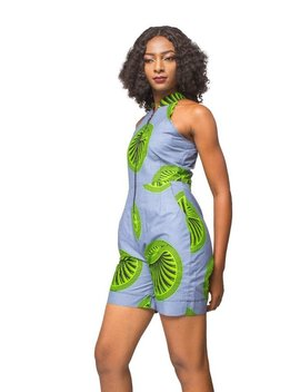 African Print Romper, Ankara Romper, African Womens Clothing, Romper, Womens Clothing, Womens Wear, Ladies Rompers by Etsy