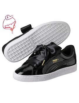 2018 New Arrival Original Puma Basket Heart Patent Women's Sneakers Suede Satin Badminton Shoes Size36 40 by Puma