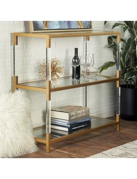 Dec Mode Modern Three Tier Console Table by Dec Mode
