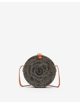 Street Level Circle Woven Crossbody Bag by Express