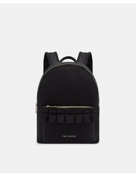 Ruffle Detail Backpack by Ted Baker