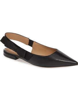 Darcy Bow Slingback Flat by Linea Paolo