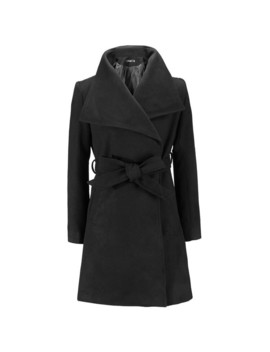 Woolen Coat Women Fashion Vintage England Autumn Winter Outerwear Blends Belt Elegant Office Lady Slim Black Coats Long Overcoat by Sisjuly