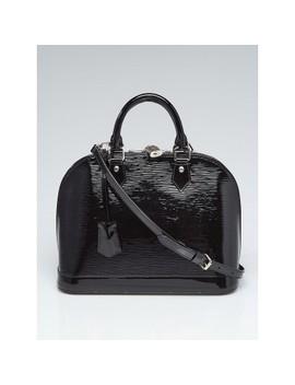 Black Electric Epi Leather Alma Pm Bag W/Long Strap by Louis Vuitton