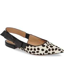 Darcy Ii Genuine Calf Hair Slingback Flat by Linea Paolo