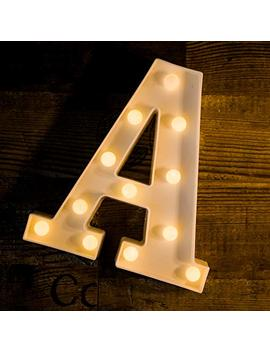 Yoaky Led Marquee Letter Lights Sign 26 Alphabet Light Up Marquee Letters Sign For Night Light Wedding Birthday Party Battery Powered Christmas Lamp Home Bar Decoration (A) by Yoaky