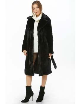 Vero Moda Longline Faux Fur Coat by Forever 21