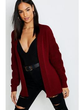 Tall Chunky Bubble Sleeve Cardigan by Boohoo