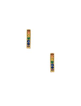 Dallas Mini Stone Earrings by Five And Two