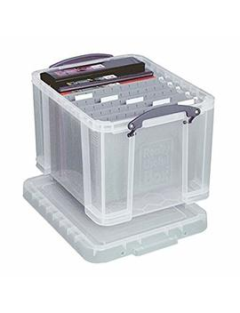Really Useful Boxes(R) Plastic Storage Box, 32 Liters, 12in.H X 14in.W X 19in.D, Clear, 32 C by Really Useful Boxes