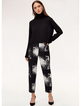 Cohen Pant   Cropped, Printed Dress Pant by Babaton