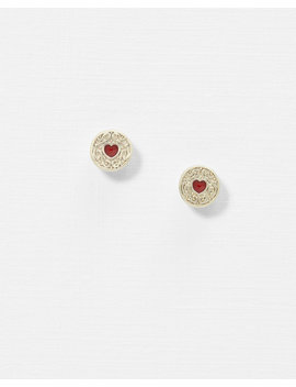 Biscuit Button Earrings by Ted Baker