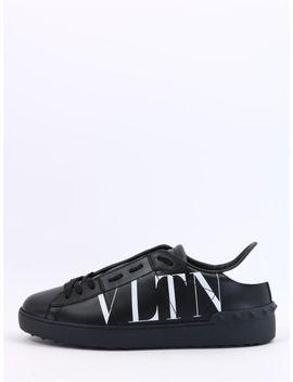 Valentino Garavani Sneaker Open Vltn Black by Valentino Garavani