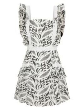 Monochrome Lace Frill Pocket Detail Bodycon Dress by Prettylittlething