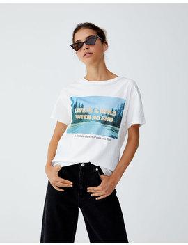 Fotoğraf Baskılı T Shirt by Pull & Bear