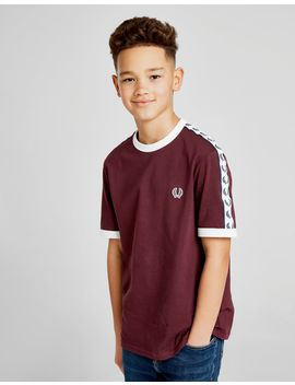 Fred Perry Tape T Shirt Junior by Fred Perry
