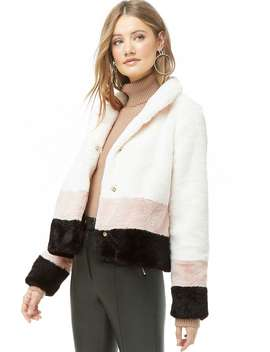 Colorblock Faux Fur Jacket by Forever 21