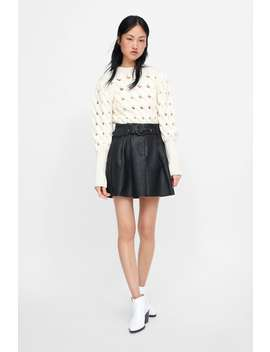 Belted Faux Leather Mini Skirt  New Inwoman New Collection by Zara