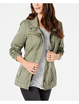 Cotton Cargo Zip Front Jacket, Created For Macy's by Style & Co