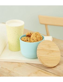 Mint Green Bamboo Lid Storage Pot by New Look