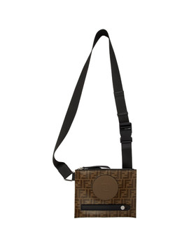 Brown 'forever Fendi' Messenger Pouch by Fendi