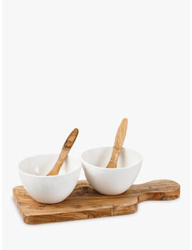 Naturally Med Paddle Ceramic Bowls & Spoons, Set Of 2 by Naturally Med