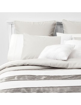 8pc Alma Pleated Comforter Set Gray by Target