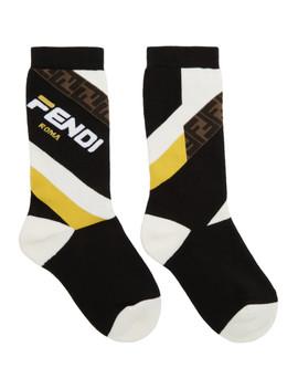 Black 'fendi Mania' Unisex Socks by Fendi