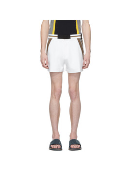 White Jersey Shorts by Fendi