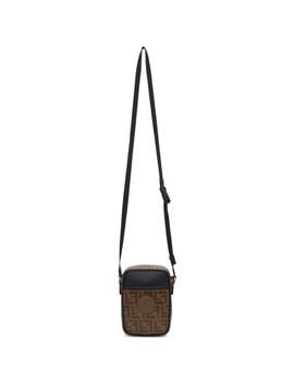 Brown Small 'fendi Mania' Crossbody Bag by Fendi
