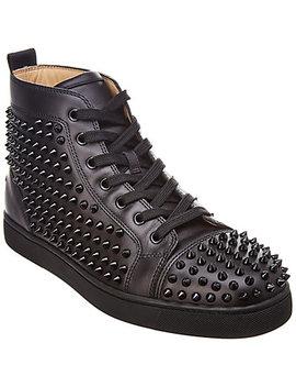 Christian Louboutin Louis Leather High Top Sneaker by Christian Louboutin