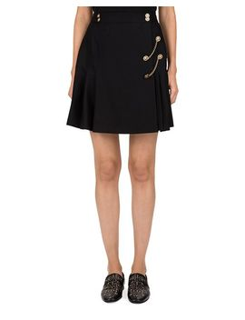 Pleated Chain Detail Skirt by The Kooples