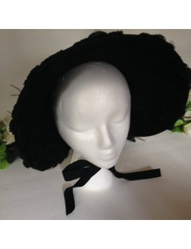 Black Victorian Mourning Bonnet by Etsy