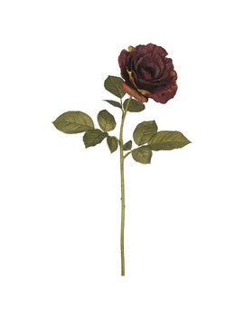 "Artificial Autumn French Rose 3pk Dark Burgundy 26""   Vickerman by Vickerman"