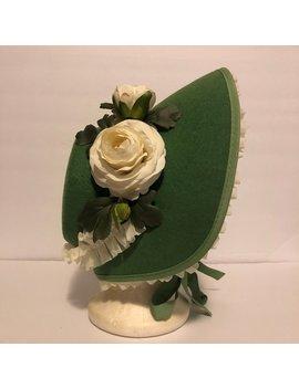 Green Victorian Bonnet by Etsy