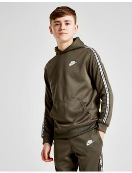 Nike Tape Poly Overhead Hoodie Junior by Nike