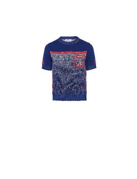Mouliné Jacquard T Shirt by Prada