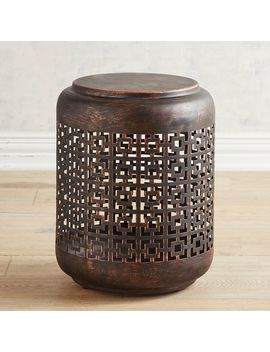 Metal Drum Accent Table by Pier1 Imports