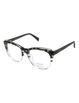 Black &Amp; Gray Crystal Cat Eye Eyeglasses by Balmain