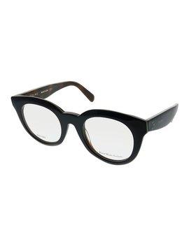 Black & Tortoise Celine Cat Eye Eyeglasses by Celine