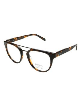 Dark Tortoise Modified Aviator Eyeglasses by Balmain