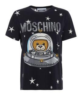 Moschino Space Teddy Bear Moschino Black T Shirt by Moschino