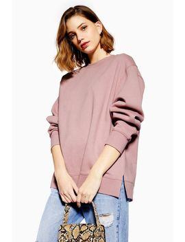 Split Hem Sweatshirt by Topshop