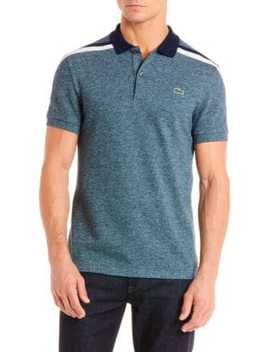 Striped Shoulder Polo by Lacoste