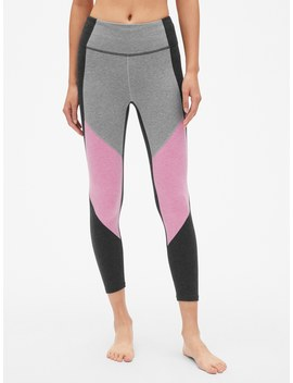Gap Fit Colorblock Panel 7/8 Leggings In Performance Cotton by Gap